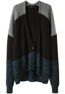 Alexander Wang : Marled Color Block Cardigan