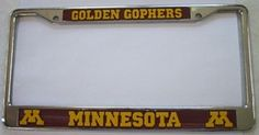 Minnesota Golden Gophers Chrome License Frame