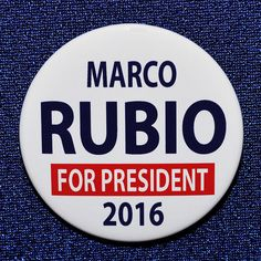 Marco Rubio for President GOP Republican 2016 Button Pin Florida All Presidents, Presidential History, Campaign, Politics, Florida, Buttons, People, The Florida, People Illustration