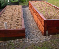 Terraced raised bed and Wicking Worm Beds