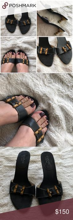 Gucci Bamboo Sandals Gucci Bamboo Sandals used but in fair condition size 38. Some wear on leather in front and back but once you put them on, you cant tell. Super comfy and cute. Some wear on bottom. Heel measures approx 2.5 inches. Made in Italy🇮🇹 Gucci Shoes Sandals