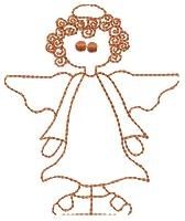 Angel Redwork - 5x7 | Angels | Machine Embroidery Designs | SWAKembroidery.com HeartStrings Embroidery