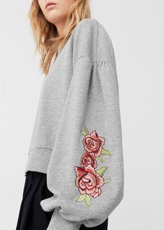 Puffed sleeves sweatshirt | MANGO