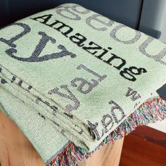 What's better than wrapping yourself up in a cozy blanket? A cozy blanket that has your very own #scape on it! A perfect gift for your recent graduate. #ShareScapes #Graduation