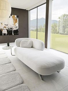 The chaise lounge relaxes the decor! – Trendy Home Decorations Lounge Couch, Sofa Couch, Chaise Sofa, Chaise Lounge Bedroom, Sofa Design, Daybed Design, Sofa Furniture, Furniture Design, Tidy Room
