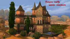 Mod The Sims: Vampire castle- summer residence by Aya20 • Sims 4 Downloads
