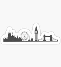 London Cityscape Sticker