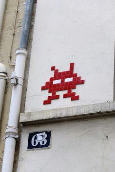 Paris 11 - rue st sabin - space invader