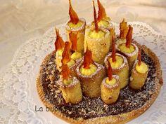 La buona cucina di Katty: Crostata di Nutella con candele alla crema