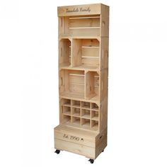 Large Four Crate Shelving Unit - Large Four Crate Wooden Shelving Display Furniture The Effective Pictures We Offer You About desk d - Wooden Apple Crates, Wooden Crate Shelves, Wood Crates, Wood Shelves, Crate Shelving, Shelving Display, Wooden Display Stand, Display Stands, Shelving Solutions