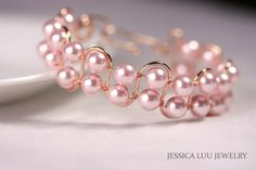 Hey, I found this really awesome Etsy listing at https://www.etsy.com/listing/232407242/rose-gold-pink-pearl-bracelet-wire