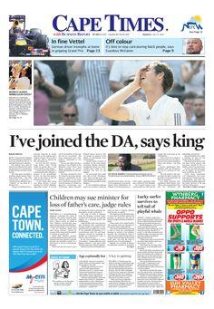 News making headlines: I've joined the DA, says King