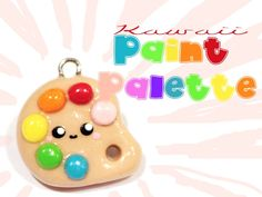 ◕‿‿◕ Paint Palette! Kawaii Friday 57 (Tutorial in Polymer Clay)