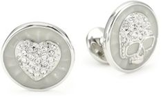 Vivienne Westwood Love and Death Clear Cuff Link Vivienne Westwood. $88.99. Crystals Made in CN. Heart and skull cufflinks. Crystals. Made in China. Save 49%!