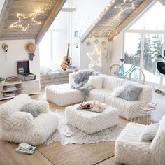 PBteen's lounge furniture features bold styles that make your style stand out. Find teen lounge decor and add color and style to your space. Teen Lounge Rooms, Teen Hangout Room, Teen Game Rooms, Living Room Decor, Bedroom Decor, Bedroom With Couch, Bedroom Lamps, Cozy Bedroom, Living Rooms