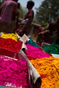 Holi Day in India (spring festival of colors celebrated by Hindus)- Holi is celebrated at the end of the winter season on the last full moon day of the lunar month Phalguna (February/March), (Phalgun Purnima), which usually falls in the later part of February or March.