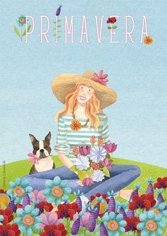 Primavera, ilustración de Momo Carretero