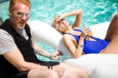 Kristin Reiter chills poolside at Coachella 2012 with Kanon USA President Peter Wijk