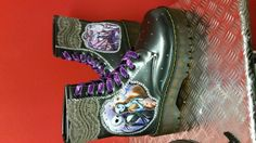 Dr Marten Style The nightmare before christmas by danisdifboutique Dr Martens Style, Christmas Decoupage, Funky Shoes, Jack And Sally, Nightmare Before Christmas, Dr. Martens, Boat Shoes, Combat Boots, Dancing
