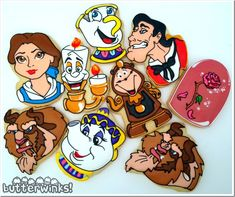 Beauty and The Beast Cookies made by ButterWinks