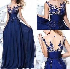 2015 New Dress Long Wedding Applique Evening Prom Gown Cocktail Party | eBay