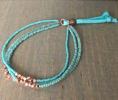 Triple layer beaded bracelet