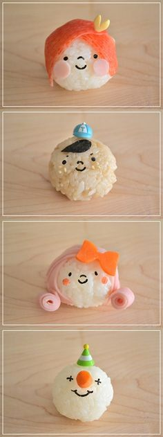 Onigiri, Japanese Rice Balls for Kids' Bento Lunch Box|キャラおにぎり