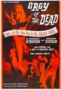 Orgy Of The Dead, 1960s Vintage Movie Poster