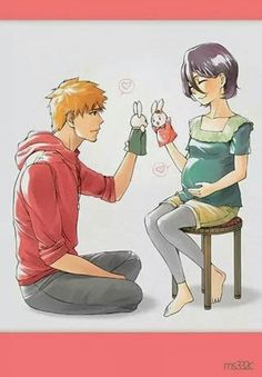 Find images and videos about bunny, bleach and kurosaki ichigo on We Heart It - the app to get lost in what you love. Manga Bleach, Bleach Ichigo And Rukia, Ichigo Y Orihime, Bleach Fanart, Fanarts Anime, Manga Anime, Anime Art, Bleach Characters, Anime Characters