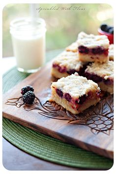 Blackberry Cobbler Bars by Amber (Sprinkled With Flour), via Flickr