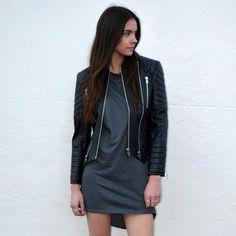 2b97233429c68 Biker Leather Jacket - Black - Elliott Label - Australian Label