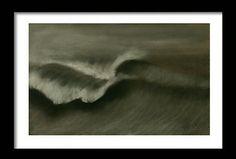 Carboncillo s/ madera. Tamaño 80x60 cm.  #acrylicpaintings #surfart #almonsurfart #seascapes #pontevedra #riasbaixas #seawaves #wavepaintings #olas #playas
