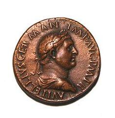 Emperor Vitellius on a coin