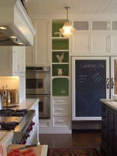 Little Green Notebook: Above the Cabinets