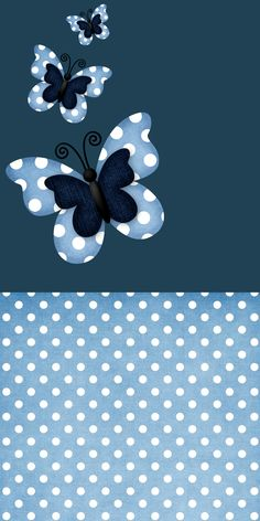 BLUE WITH BUTTERFLIES