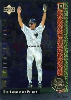 RARE 1997 UPPER DECK 10th ANNIVERSARY PREVIEW EDITION WADE BOGGS NEW YORK YANKEE