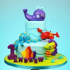 whale cakes | Cakes - Ocean Wonders Sea World Whale Crab Octopus Seahorse.png
