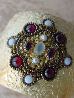Moonstones and Opal Cuff by freespirit - Heidi Kummli