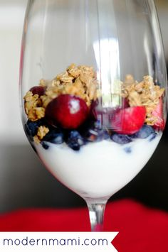 Blueberry & Cherry Yogurt Parfait