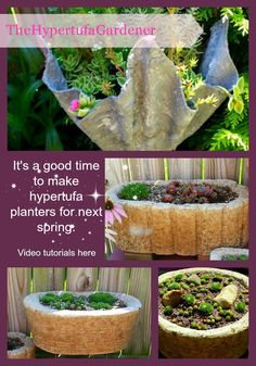 How to make diy cement cloth draped planters old cloth + cement = flower pots! can you believe how simple it is? here is the instructions, but basically you Cement Flower Pots, Mosaic Flower Pots, Cement Pots, Container Plants, Container Gardening, Gardening Tips, Garden Crafts, Garden Projects, Outdoor Projects
