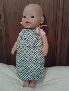 Pillow case dress voor babyborn pop