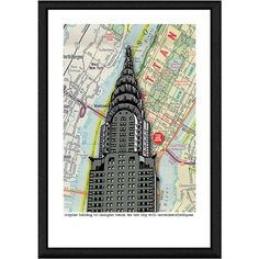 Green Leaf Art 'City' Giclee Print Framed Canvas Art ($163) ❤ liked on Polyvore featuring home, home decor, wall art, map wall art, framed wall art, canvas wall art, canvas home decor and giclee wall art