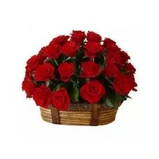 Red Roses, Roses Basket, Valentine Gifts