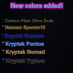 New colors added to our site!! #kobrakydexgear #kydex #newcolor #carbonfiber #hexcam #kryptek