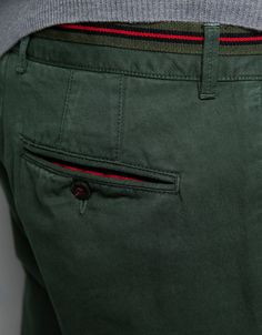 Chinos with Ribbon Detail by ZARA
