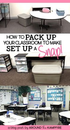 10 Tips for Packing Your Classroom That Make Set Up A Snap! – Around the Kampfire Packing up a classroom is the WORST! 10 Tips for Packing Up Your Classroom and making it a SNAP! Classroom Hacks, Classroom Layout, New Classroom, Classroom Setting, Classroom Design, Kindergarten Classroom, Classroom Decor, Clean Classroom, Classroom Libraries