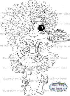 Sherri Baldy My Bestie Cake Girl Bestie remix digi stamp - My Besties Shop