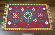 "A ""mat"" rangoli made as a contest entry. Sanskar Bharti Rangoli Designs, Rangoli Ideas, Diwali Rangoli, Simple Rangoli, Projects To Try, Carpet, Kids Rugs, Traditional, Inspiration"