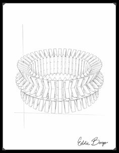 #EddieBorgo | Designer Sketch | Chevron Bracelet
