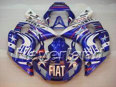 YAMAHA YZF-R6 1998-2002 ABS Fairing - FIAT (Blue) #99r6fairings #2002yamahaR6fairings
